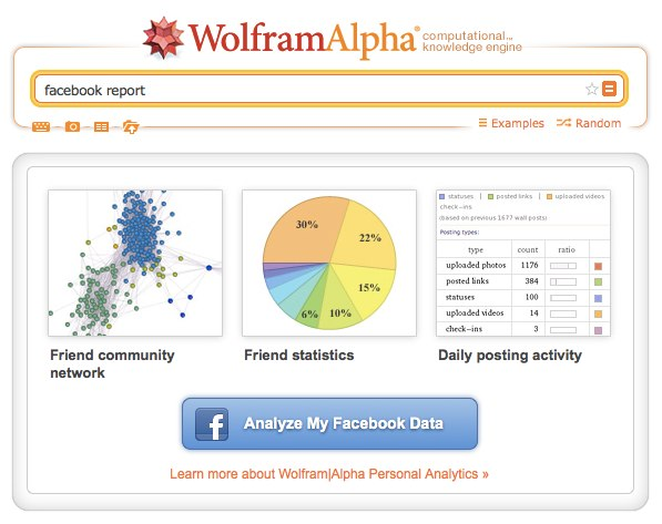 facebook report - Wolfram|Alpha