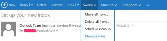 Outlook.com spam