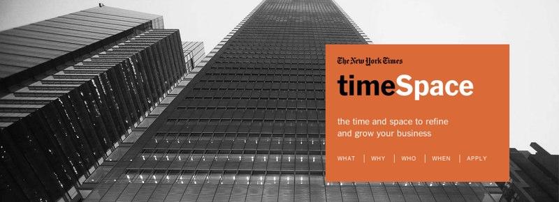 New York Times timespace incubadora aceleradora
