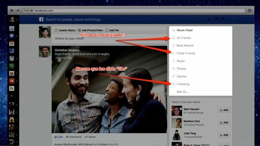 feeds personalizados en facebook