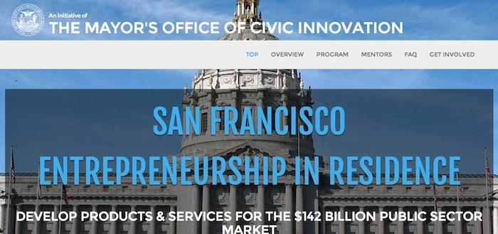 San Francisco Entrepreneurship-in-Residence Program