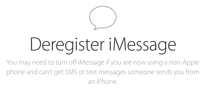 Deregister and Turn Off iMessage