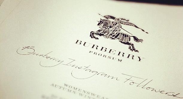 burberry instagram