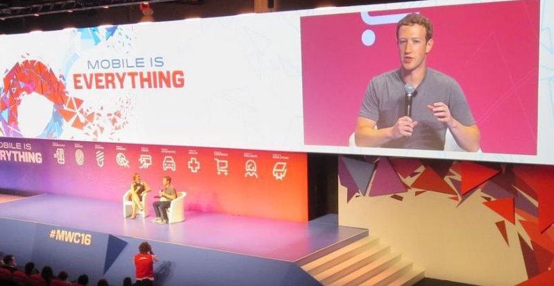 zuckerberg en el mwc 2016