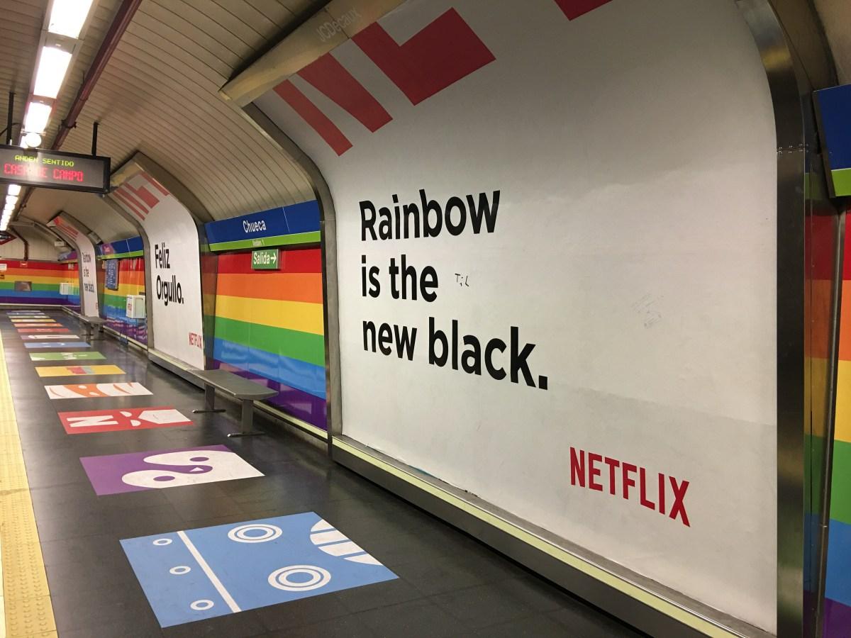 Netflix en Chueca y la semana del orgullo