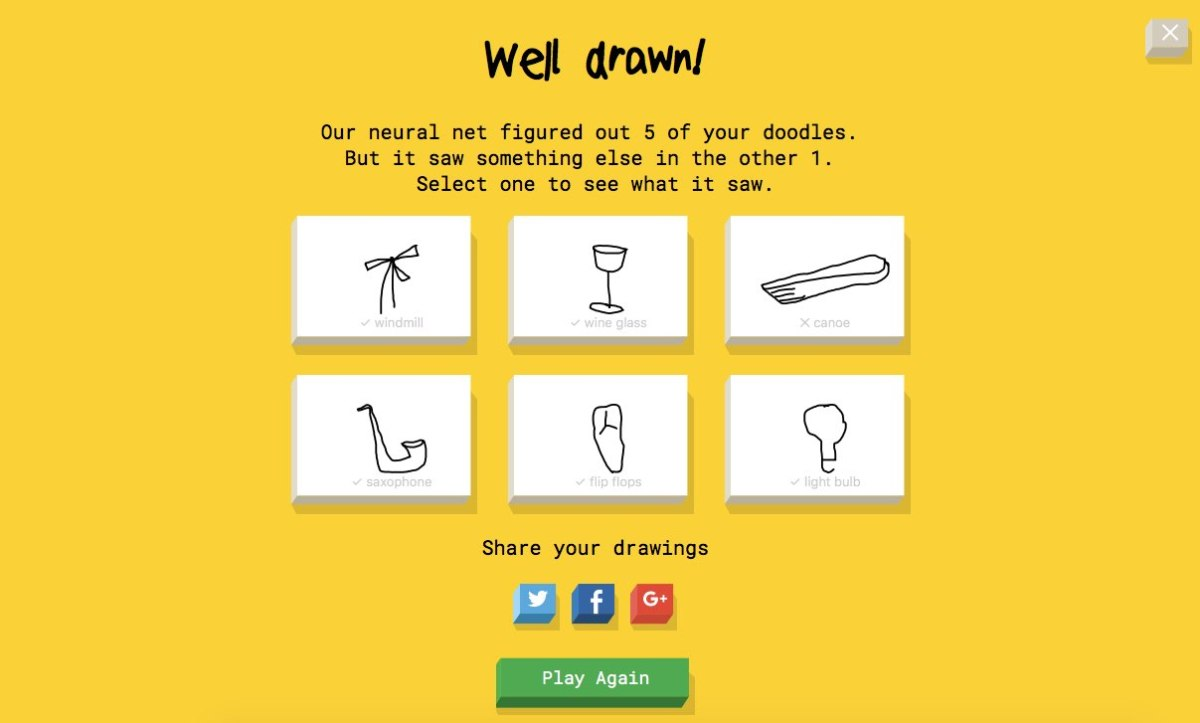 Google AI Experiments initiative y Quick Draw
