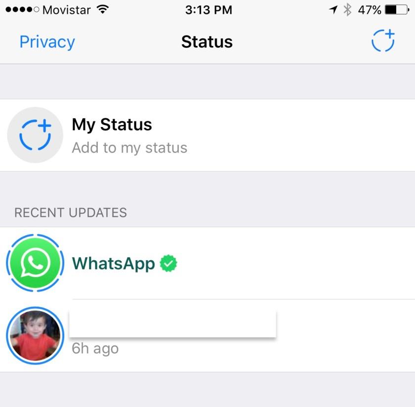 WhatsApp Status y su éxito rotundo!