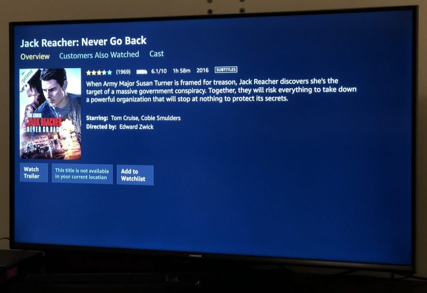 Amazon Video: This title is not available in your current location