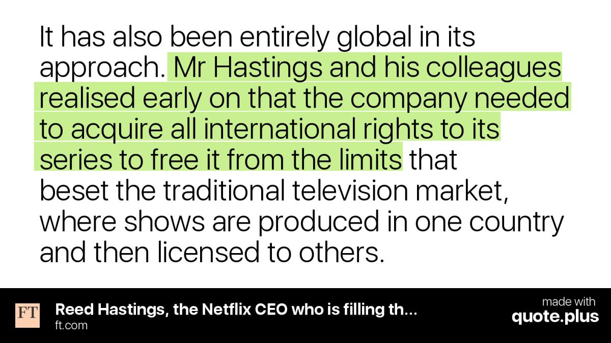 Netflix y la internacionalización del streaming