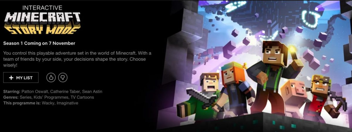 Black Mirror Bandersnatch sigue la tendencia de Minecraft Story Mode