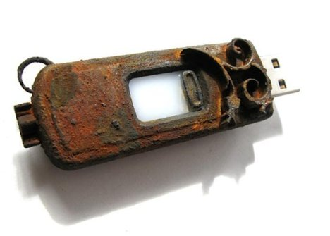 Rusted Steampunk USB Flash Drive