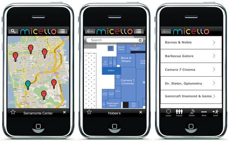 The Micello interface.