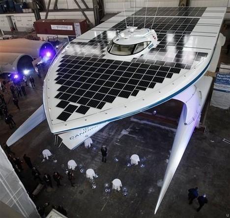 La bateau PlanetSolar fonctionne à l'énergie solaire