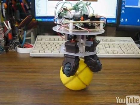 Le robot Ballbot a rétréci