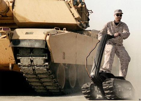 DTV Shredder militarized skateboard