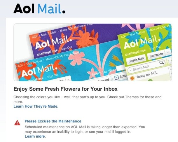 AOL Mail is down | Ubergizmo