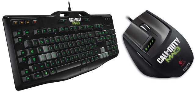 Logitech Call of Duty keyboard and mouse