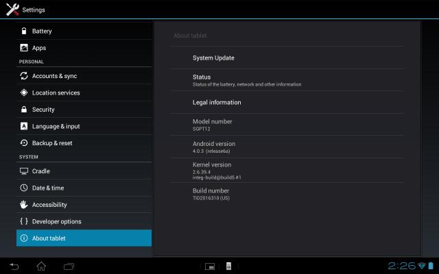Sony Xperia Tablet S New Firmware Update Released | Ubergizmo