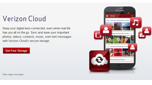 Verizon Cloud Offers 500MB Of Free Storage To iOS, Some