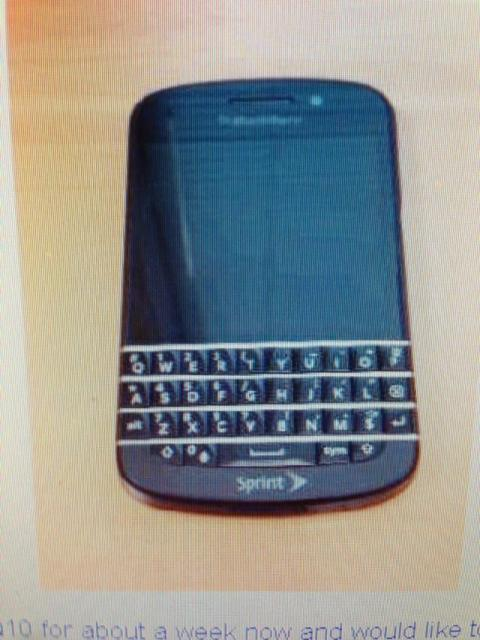 BlackBerry Q10 With Sprint Branding Spotted | Ubergizmo