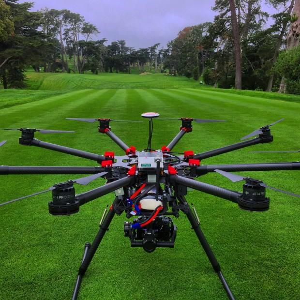 drones golf