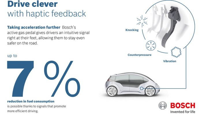 Bosch's Haptic Feedback Pedal Can Help Save You Gas