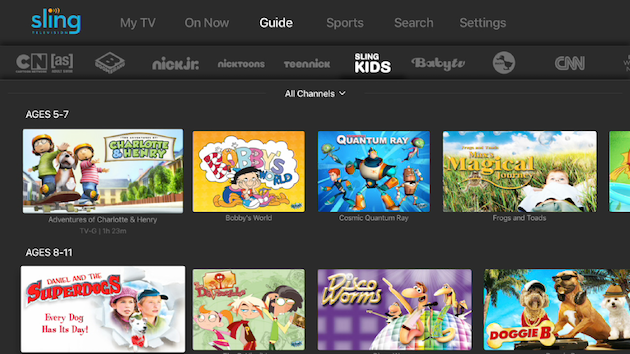 Sling TV Adds On-Demand Kids Channel | Ubergizmo