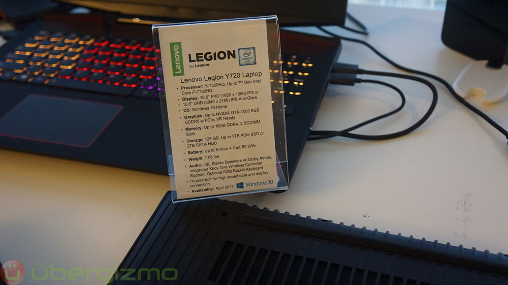 Lenovo Y720 And Y520 Laptops: Legion Gaming PCs Brand Launched
