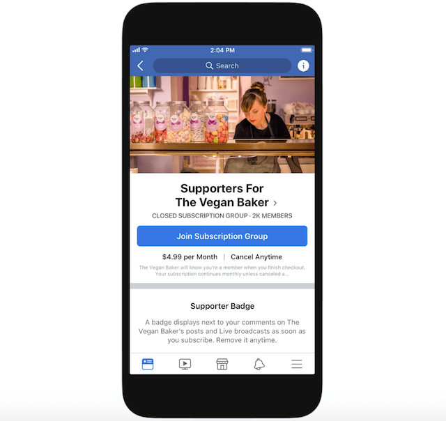 Facebook Will Take A Cut Of Fan Subscriptions Starting Next Year