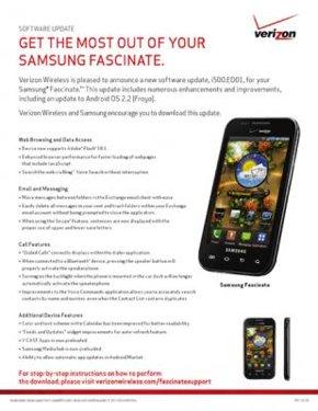 Samsung Fascinate Froyo