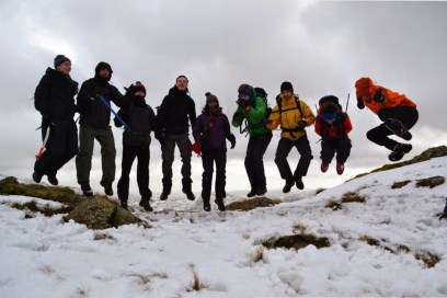 UBESters in the snow on an expedition