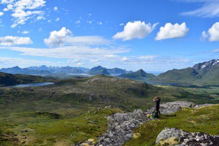 Overlooking the islands and fjords on Vestvågøya, Adam Dawson