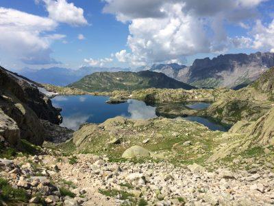 Lac Cornu and the Désert de Platé on the top right
