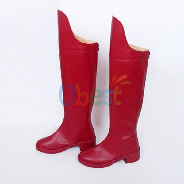 Supergirl Kara Danvers Zor El Red Boots Cosplay Shoes