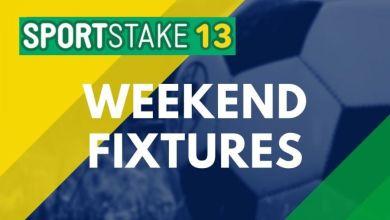 Photo of Sportstake 13 Weekend Fixtures