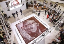 Photo of The Guinness World Record For Largest Coffee Grounds Mosaic Is An Image Of DJ Black Coffee
