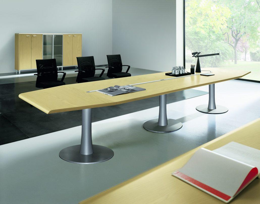 Tables de runion Bois intemporel et rac  Unia mobilier bureau