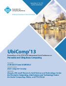 Ubicomp 2013 - Sep. 8-12. Zurich. CH