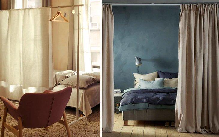 Lampadario in vimini giunco grigio 53x53 paralume lampada sospensione a soffitto. Tende Ikea Stile E Funzionalita Per Rinnovare Gli Interni