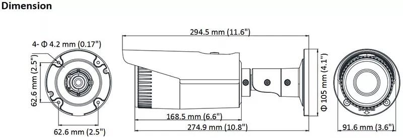 Caméra IP Hikvision DS-2CD1641FWD-IZ varifocale motorisée