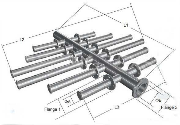 Lateral distributor,header and hub lateral,inlet
