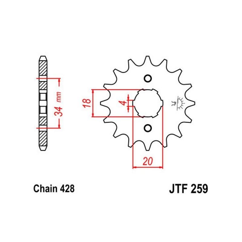 Piñón de Salida Daelim VJF125 R Roadwin FI 08-16 JTF25914