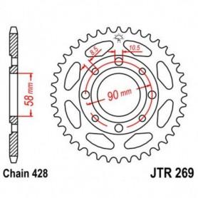 Corona Daelim VC125 S 96-99 JT JTR269.43 Acero 43 dientes