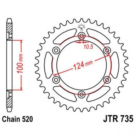 Corona Ducati 696 Monster 12-14 JT JTR735.45 Acero 45 dientes