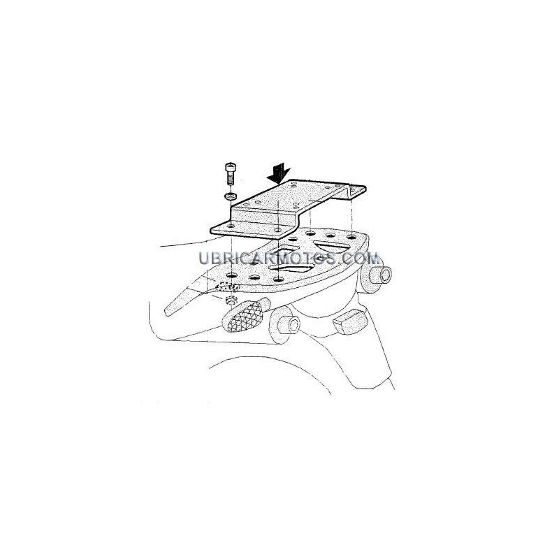 Soporte Maleta Trasera Honda Transalp XL650V 00-07 Shad