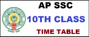 Andhra Pradesh SSC New Time Table 2021