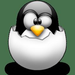 Tux en un huevo
