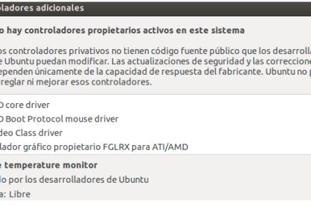 Ubuntu 12.10: ¿Controladores adicionales? ¿Donde estaís?