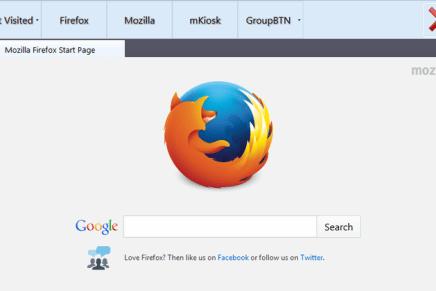 Firefox en modo kiosko