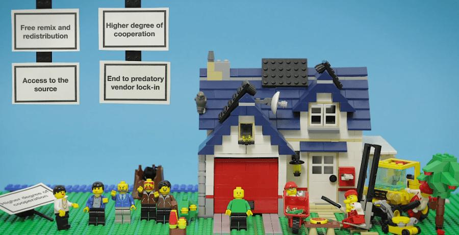 Selección 131 ¿Qué es el código abierto y el software libre? (versión Lego)